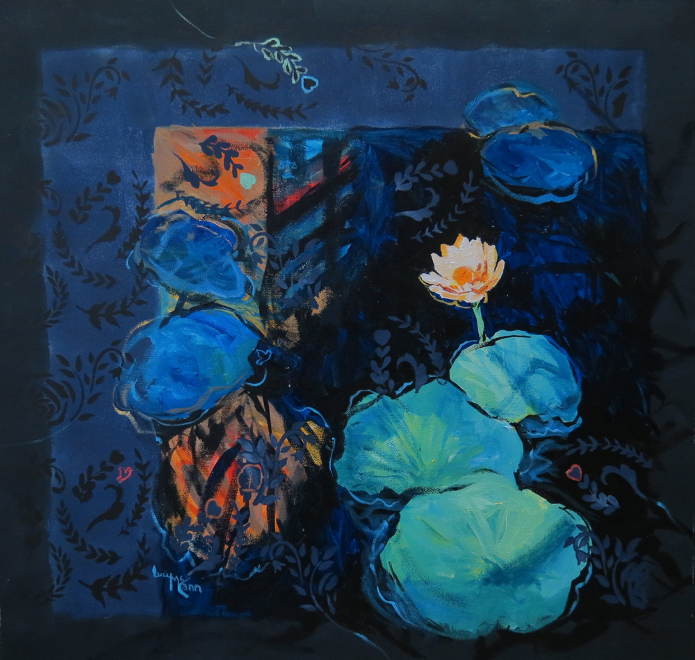 Dancing Shadows 64cm x 61cm acrylic by Lucy McCann