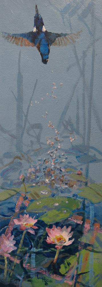 Flash of Blue 41cm x 89cm acrylic by Lucy McCann