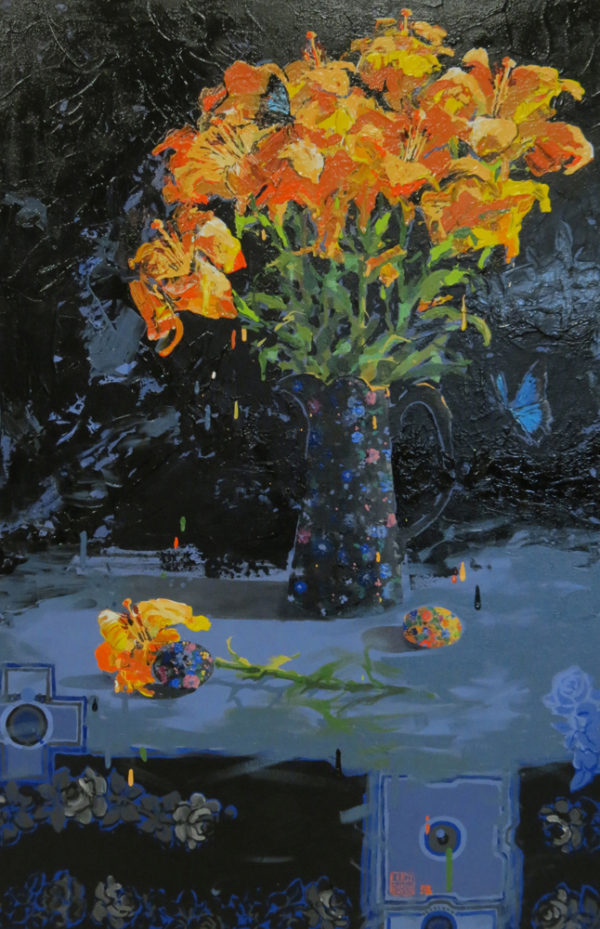 Monarch 61cm x 91cm acrylic by Lucy McCann