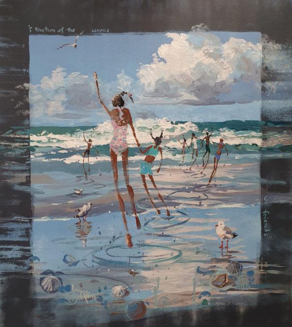 Rhythm of Nature – Friends 65cm x 84cm acrylic by Lucy McCann