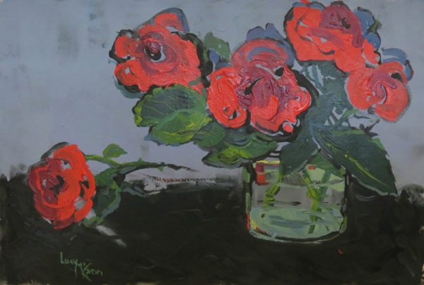 Scented Red 57cm x 38cm acrylic by Lucy McCann