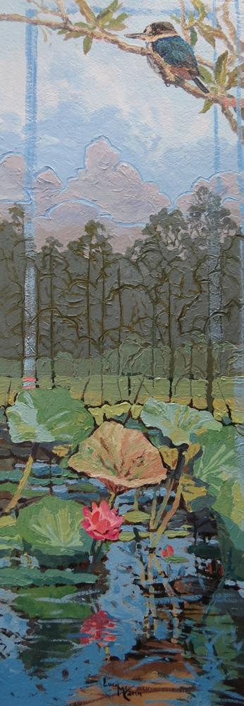 Seasons 41cm x 89cm acrylic by Lucy McCann