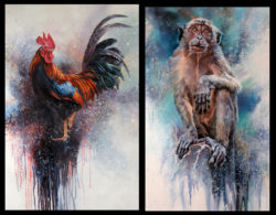 Animal Portraits in Acrylics – an extension workshop with Barry McCann