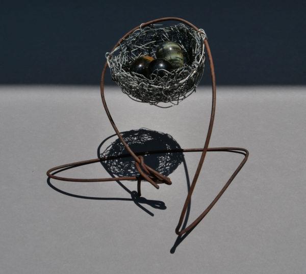 Nest 3. Handmade wire nest by Lucy McCann