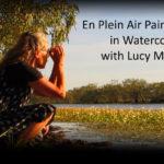 En plein air painting lilies in watercolour with Lucy McCann