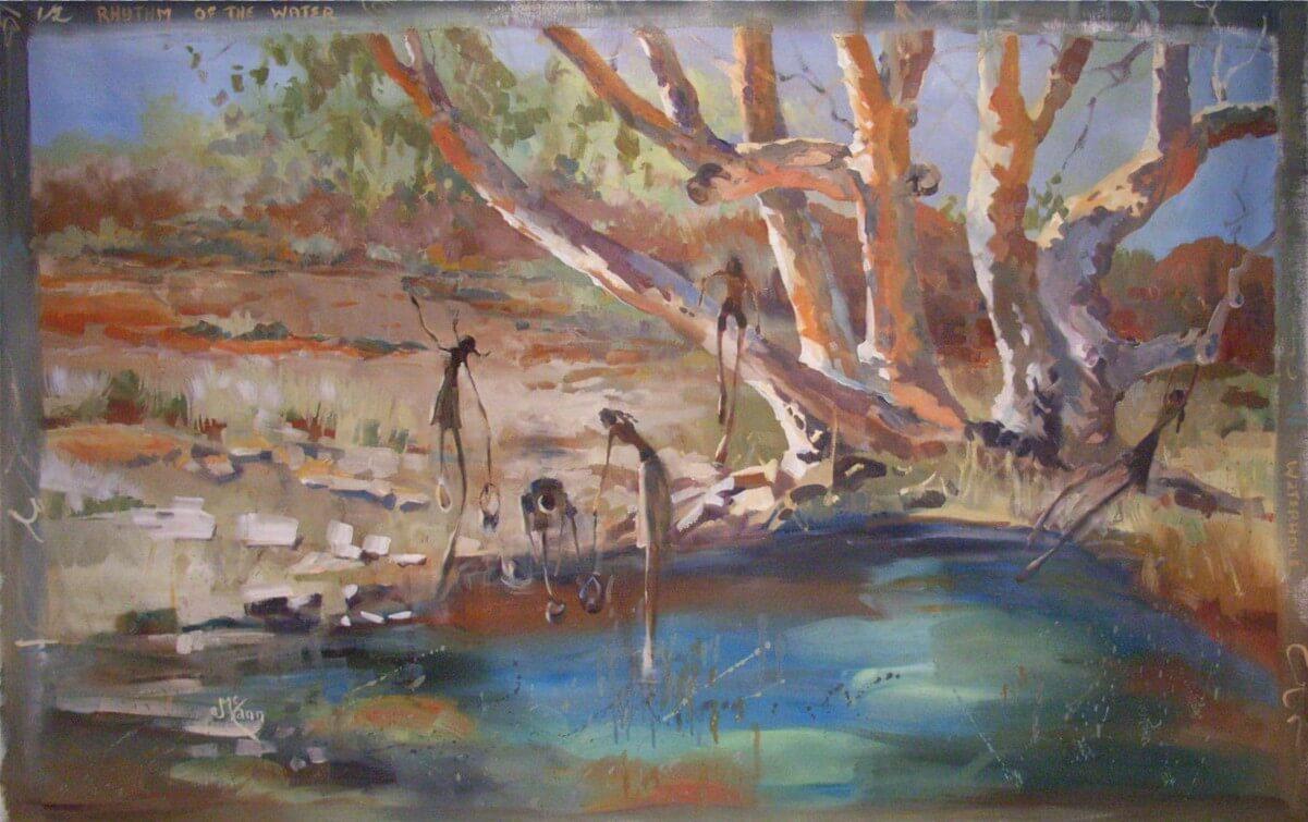 Lucy McCann Rhythm of the Water-waterhole