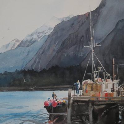 Lucy McCann Pink buoy's New Zealand