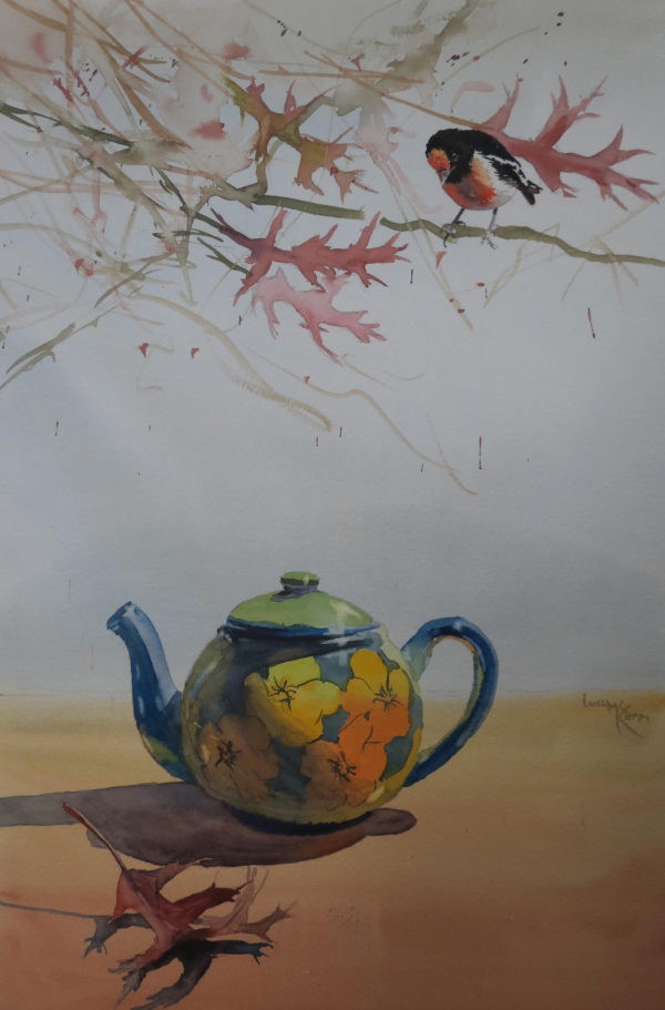 Lucy McCann Robin and the pin oak tree